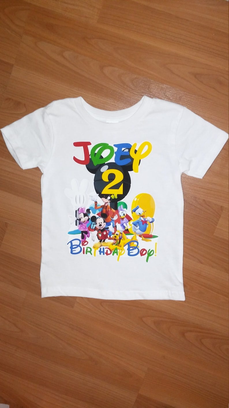 ab8aa2331cd3 Mickey Mouse Clubhouse Personalized Birthday T Shirt | Azərbaycan ...