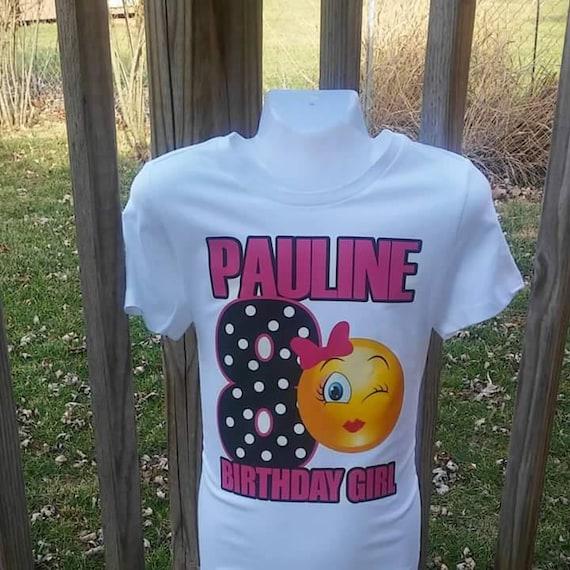 Emoji Birthday T Shirt Winking Eylashes With Bow