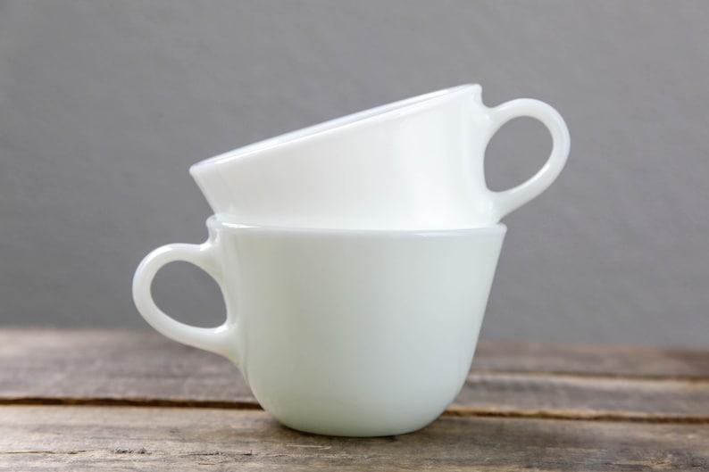 c3f9764e059 Pyrex White Mug | Set of 2 | Milk Glass | Coffee | Tea Cups | Pyrex Cup |  Afternoon Tea | Tea