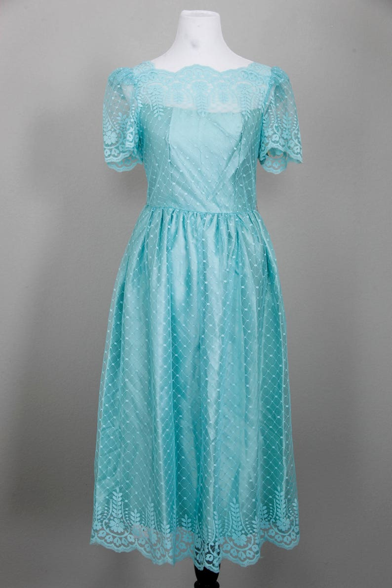 631473b5370 JCPenney Bridesmaid Gown Size 9 10 Blue Green Wedding