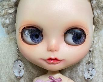 Blythe silver bead earring