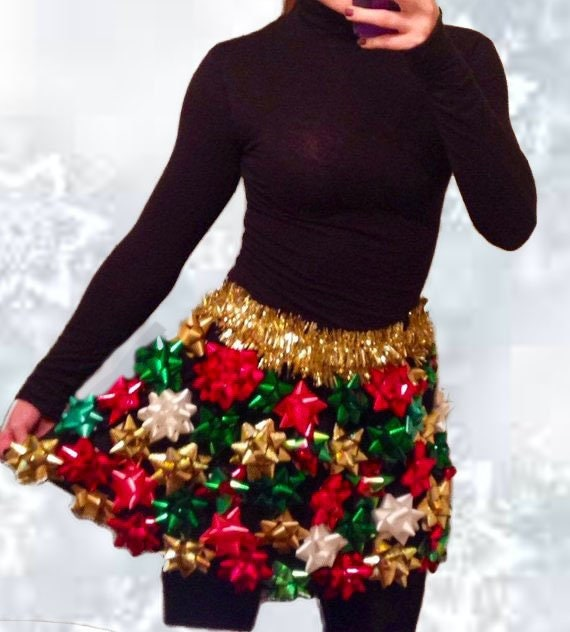 Ugly Christmas Skirt Ideas.Ugly Christmas Sweater Christmas Bow Skirt Ugly Christmas Sweater Party Bow Skirt Discounted For October