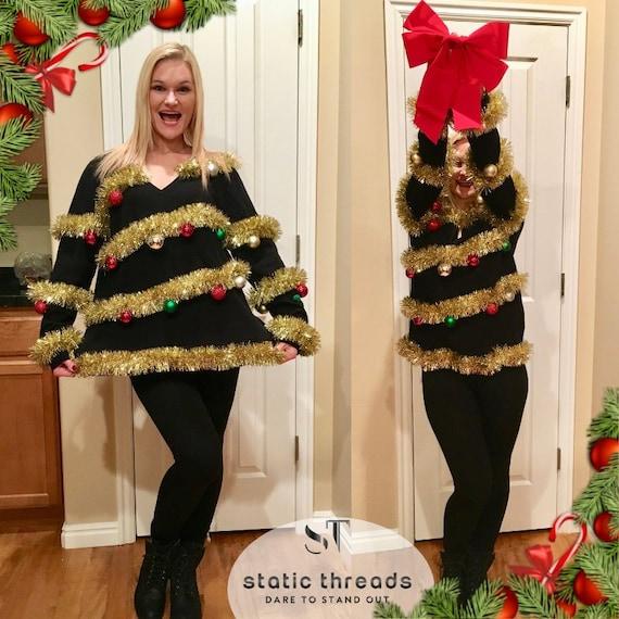 Christmas Tree Sweater Womens: Ugly Christmas Tree Sweater / Ugly Christmas Sweater For