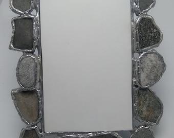 Med. Beach Stone Mirror