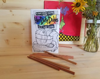 Vol 3 Lady Loving/ Gay Pride Coloring Book/ Lesbian Coloring Book/ Adult Coloring Book/ Adult Lesbian Coloring Book/ Her Dirty Dishes Book