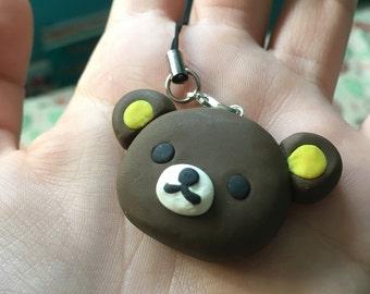 Cute Rilakkuma Phone Strap Charm Keychain