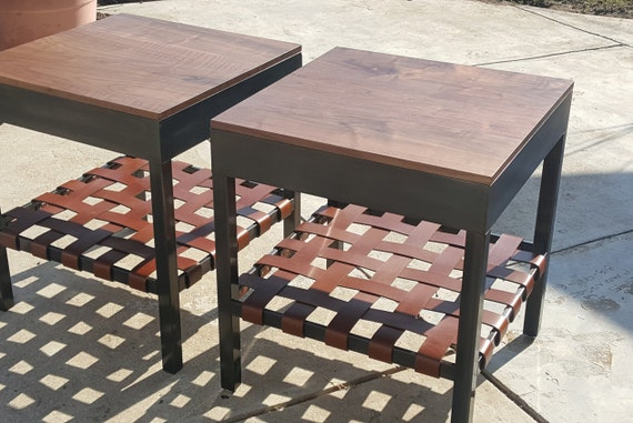Leather Strap End Tables