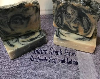 Black Amber Musk Soap, Handmade, Scented Soap, Bar Soap, Shower Soap