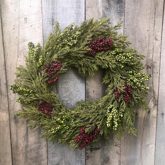 Christmas Wreath Front Door Wreath Holiday Door Wreath Etsy