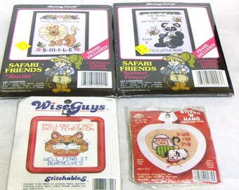 5 X 5 Needlepoint Kit Opened but Appears Compete Wise Guy I Can/'t Relax Needlepoint Kit