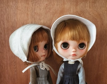 dollychacha - Linen Faced-protective Bonnet Hat for Blythe