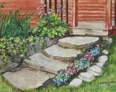 Porch Steps and Stone Gardens