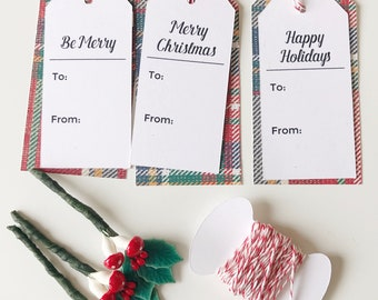 gift tag kit, holiday, christmas