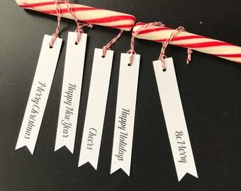 christmas banner gift tags, christmas & holiday