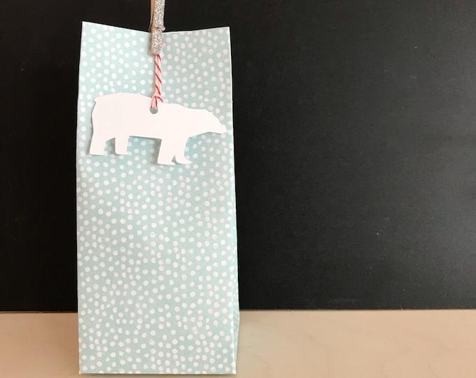 Polar Bear Treat Gift Bags, Christmas, Holidays, Winter Gift Wrap