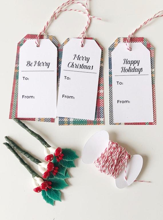gift tag kit, holiday, christmas