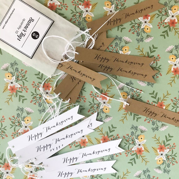 Banner Tags - Happy Thanksgiving