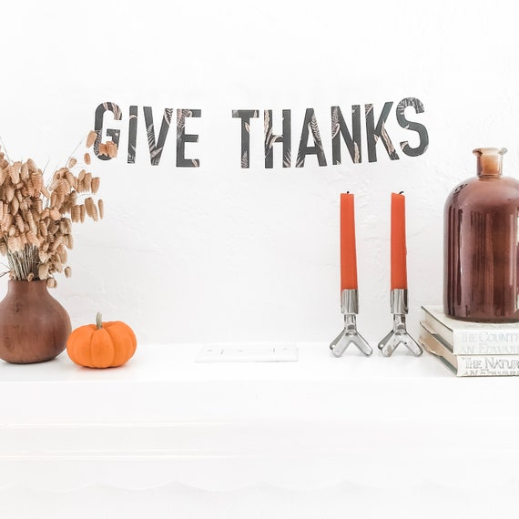 Word Garland - Give Thanks