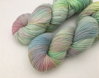 Hand dyed yarn New merino fingering -'Watercolours'