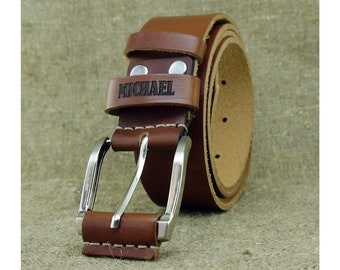 b3f705eed01c Boîte à cadeaux d anniversaire de ceinture personnalisée en cuir pour homme  personnalisé cadeau pour cadeau lui la fête des pères du jour pour papa  cadeau ...
