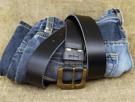 f213dc60f4a2 Personnalisé en cuir ceinture personnalisée cadeaux pour homme   Etsy
