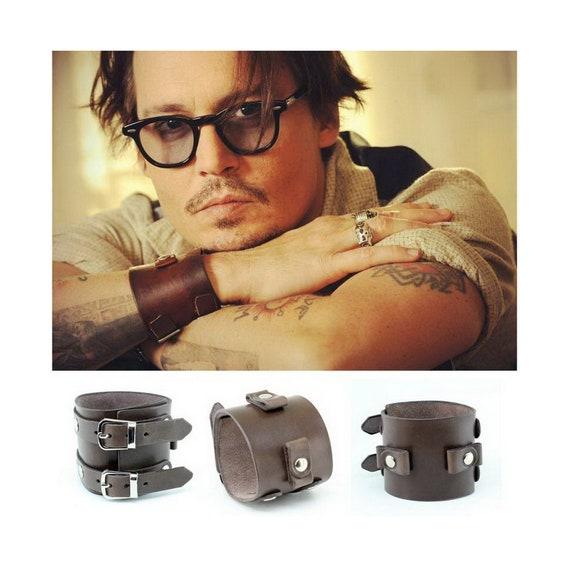 bracelet cuir johnny depp