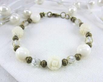 40af1c4c0f Ivory Wedding Bracelet