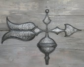 Weathervane Decor Stylized Arrow Hammered Antique Tin