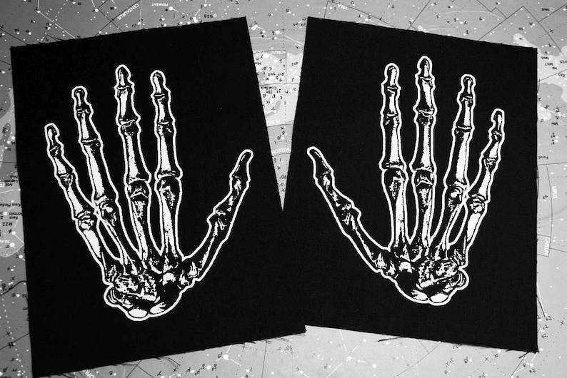 871d0e2912e40 Horror patch bone hands patch skeleton patch nu goth