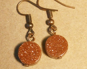 Copper Earrings - Sparkly Earrings