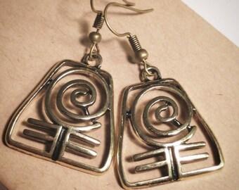 Bronze Earth Bender Earrings - Avatar Earrings - ATLA Earrings - Earth Kingdom Earrings