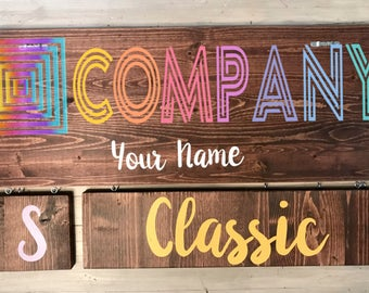Wood Product Sign - Consultant Sign - Custom Clothing Sign - Size Sign