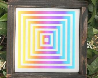 Wood Sign - Logo Sign - Unicorn Sign - Rainbow Sign