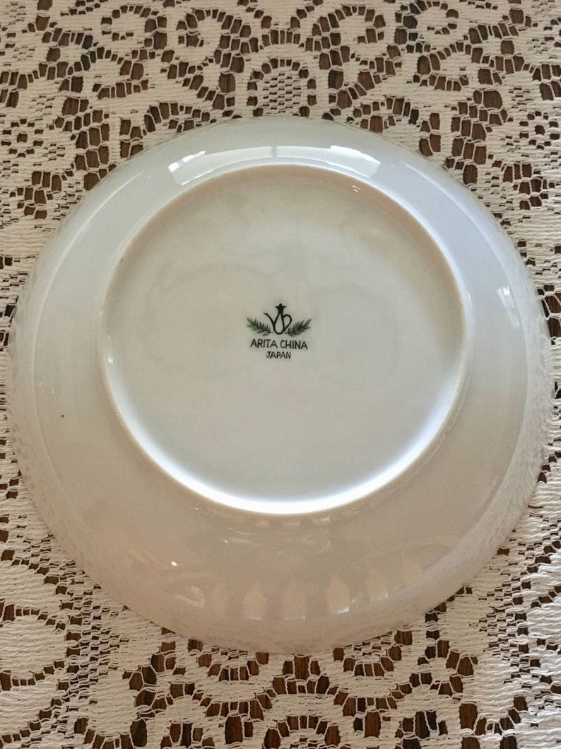 Beautiful mid-century maple leaves patterned Arita China JAPAN  teacups and bowls each 12