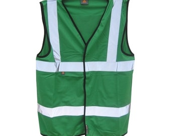 Bottle Green Safety Reflective Hi Visibility Vest, 6 Sizes, Riding, Hen Nights etc6