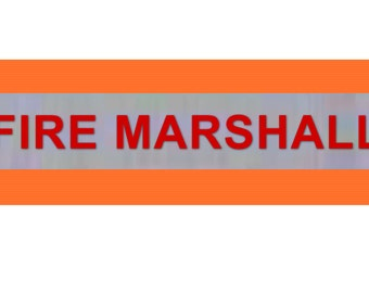 "Printed ""FIRE MARSHALL"" Reflective Armbands Wide Reflective Sports Safety Hi Visibility Walking ID  Orange"