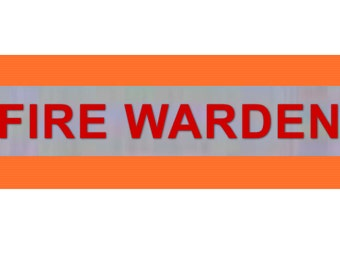 """Printed """"FIRE WARDEN"""" Reflective Armbands Wide Reflective Sports Safety Hi Visibility Walking ID  Orange"""