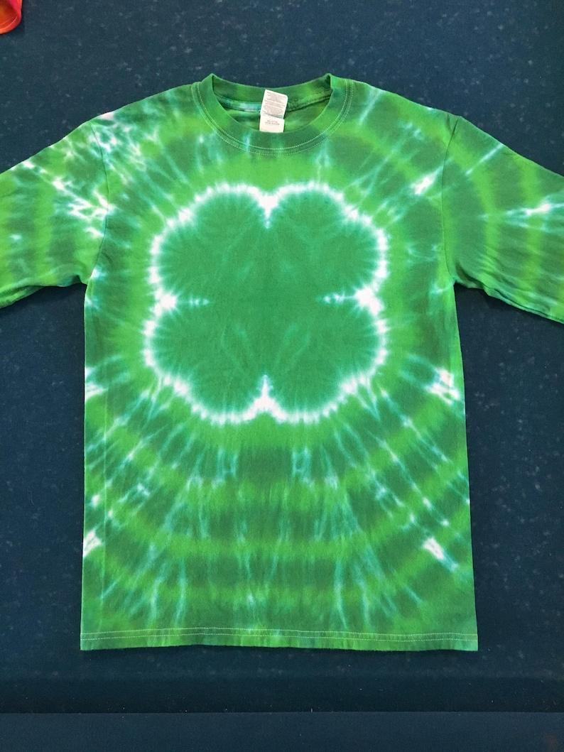 4 Leaf Clover 4H Tie Dye Shirt tye die FREE SHIPPING Handmade  90580ed7c