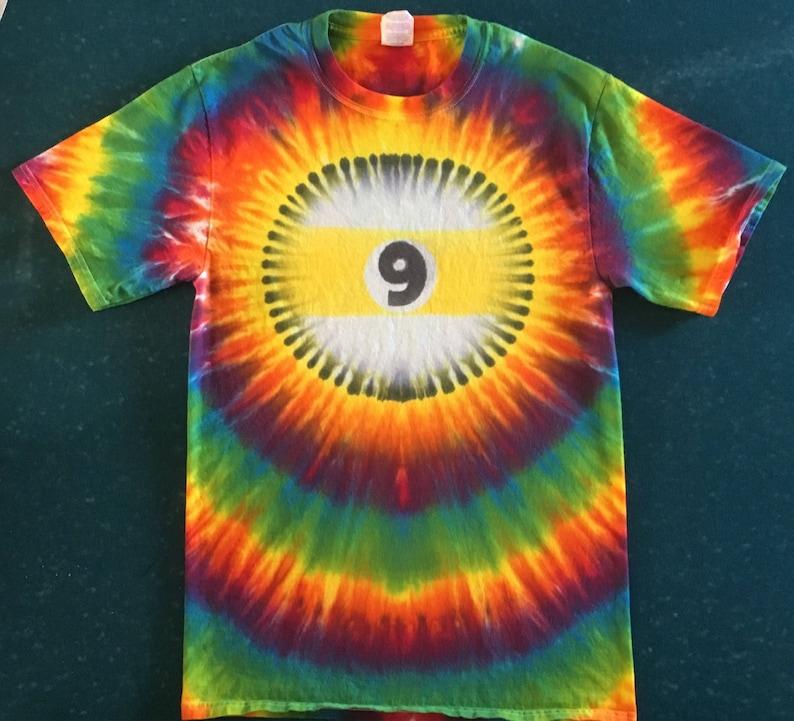 9ac2e0e2deb06 Tie Dye 9-Ball T-shirt shirt hand made customizable FREE | Etsy