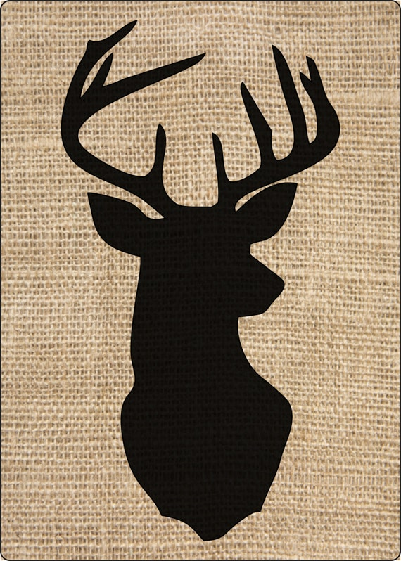 1 Xtra Large Thick Stencil Rustic Deer Head Silhouette Craft Etsy