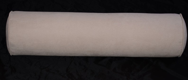Twill-Natural. 8 Round X 30 long Round Bolster Pillow Cover