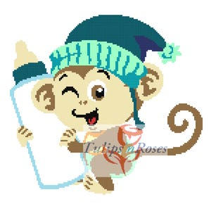 Baby Monkey with Pacifier Graph