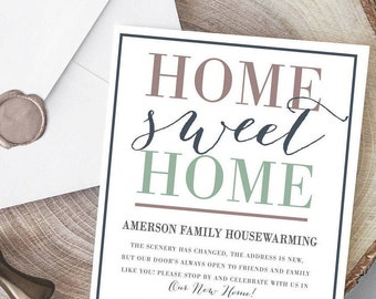 Housewarming Invitation, Housewarming Printable Invite, Home Sweet Home Invite, Stock the Bar Party, Modern Housewarming Invite, We've moved