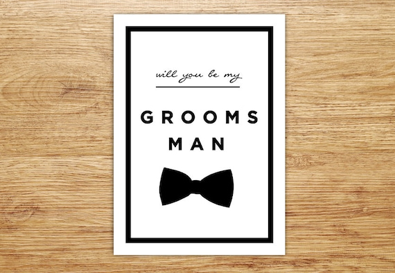 will you be my groomsman wedding card groomsman invitation etsy
