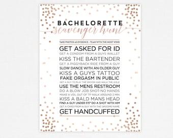 Bachelorette Party Game, Bachelorette Scavenger Hunt, Blush Bachelorette Game, Blush Bachelorette Party, PRINTABLE Party Game