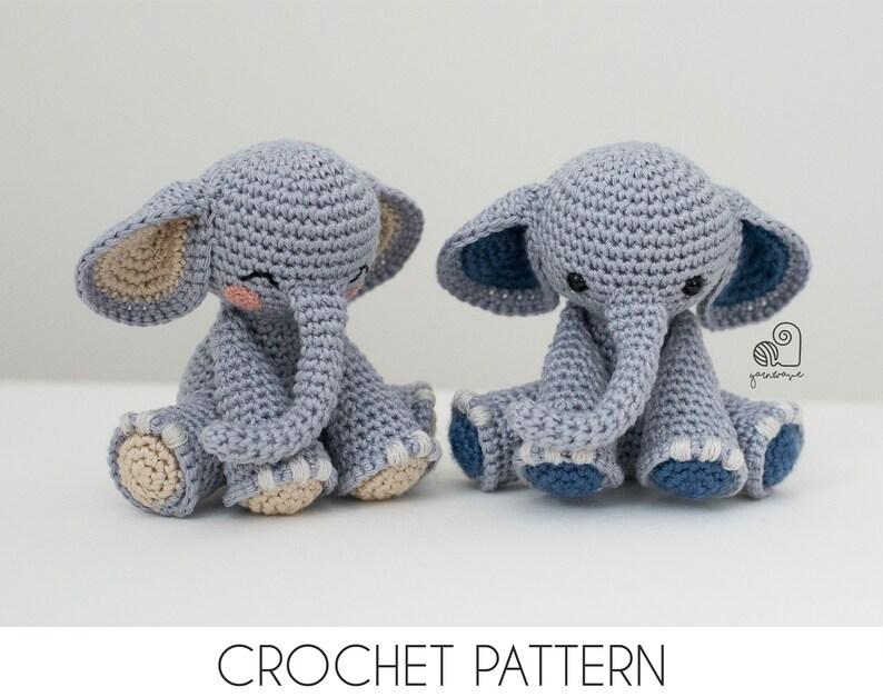 CROCHET PATTERN Joe the Elephant crochet amigurumi stuffed image 0