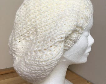 Hand knitted wool beret