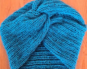 Bonnet turban en Mohair et Alpaga