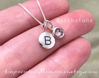 Tiny Personalized Birthstone Necklace Gift For Girls