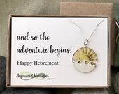Retirement Gift for Women - Sun WAVE Necklace Retirement Gift for Her Retirement Necklace Travel Ocean Beach Nature Teacher Nurse Adventure
